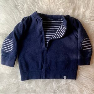 Other - Reversible Cardigan, Navy and White | 9-12 month